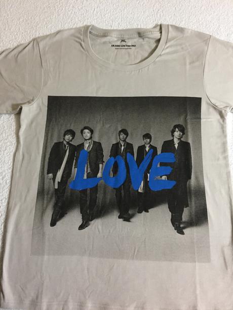 嵐 LOVEツアーTシャツ コンサートグッズの画像