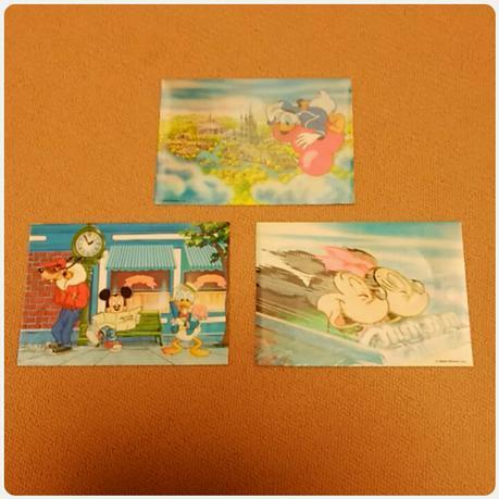 【Disney】入手困難?! イラストが変わるポストカード 3枚セット ディズニーグッズの画像