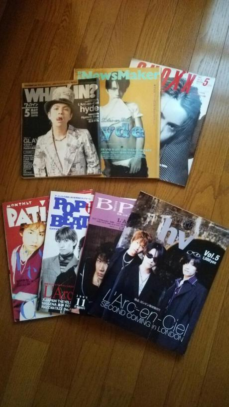 L'Arc~en~Ciel、hydeの表紙雑誌  7冊セットです。 ライブグッズの画像