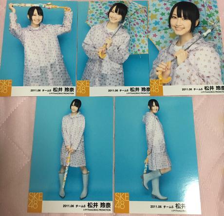 即購入NG☆SKE48 松井玲奈 生写真コンプ 2011.06 ライブグッズの画像
