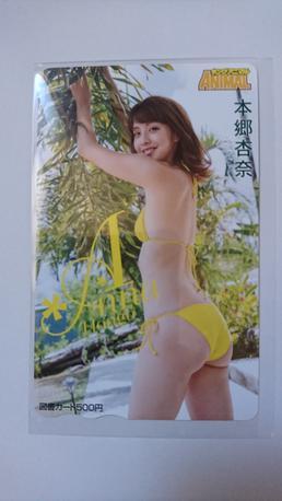 本郷杏奈 ヤングアニマル 限定 図書カード ライブグッズの画像