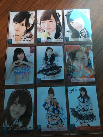 NMB48の公式生写真直筆サインです。 ライブグッズの画像