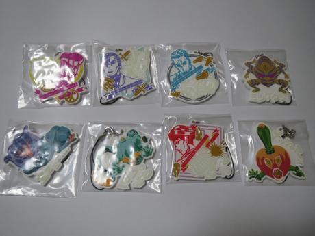 一番くじ ジョジョの奇妙な冒険 G賞 ラバーストラップ 8種セット グッズの画像