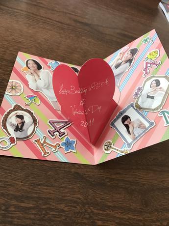 perfume パフューム PTA バレンタインカード 2011 ライブグッズの画像