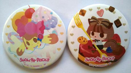 SHOW BY ROCK!!ドーリィドルチ缶バッジセット*サンリオ*Sanrio グッズの画像