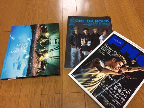 One Ok Rock Footmark + 雑誌 ライブグッズの画像