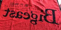 東方神起 黒×赤 ビギタオル オマケつき! ライブグッズの画像 2枚目