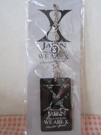 X JAPAN リール付カードケース 定期入れ ストラップ コンサートグッズの画像