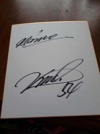 黒木選手サイン色紙 グッズの画像