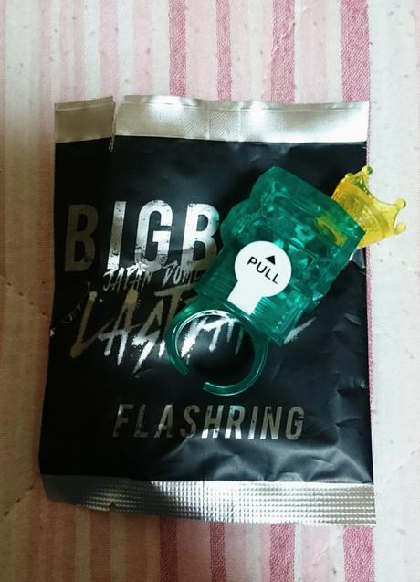 BIGBANG LAST DANCE フラッシュリング 未使用T.O.Pタプ ライブグッズの画像