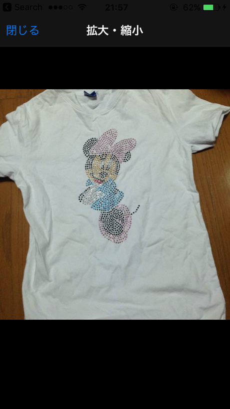 ミニーTシャツ ディズニーグッズの画像
