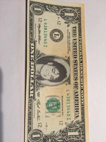 マイケルジャクソン レア ☆1$紙幣☆ ライブグッズの画像