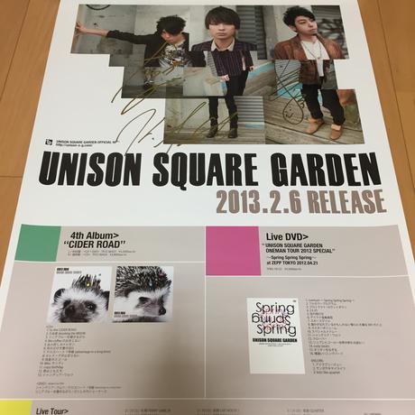 UNISON SQUARE GARDEN サイン入りポスター ライブグッズの画像