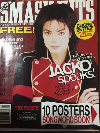 マイケルジャクソン 音楽雑誌 SMASH HITS 洋書 ライブグッズの画像