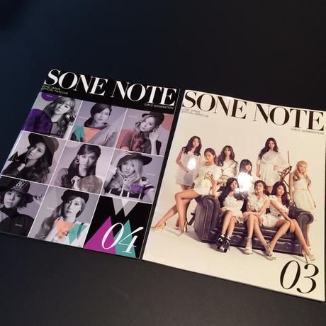 少女時代 ファンクラブ限定 SONENOTE 03,04