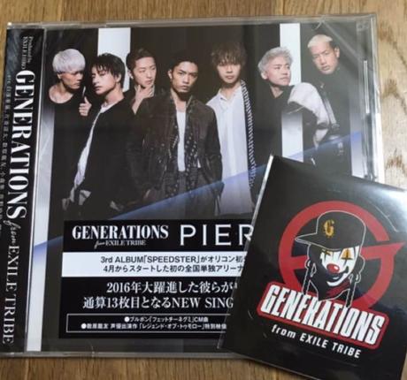 【新品】GENERATIONS PIERROT CDのみver ステッカー付き
