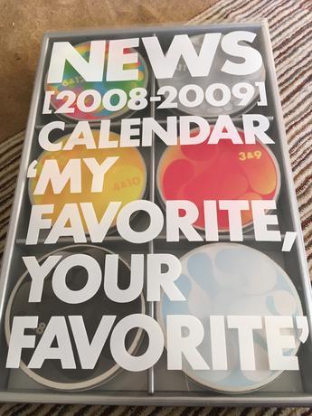 NEWS公式カレンダー(2008〜2009) コンサートグッズの画像
