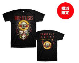 GUNS N' ROSES TOUR 2017 横浜アリーナ公演限定Tシャツ ライブグッズの画像