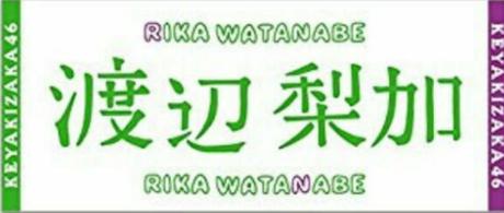 【初期】欅坂46 渡辺梨加 タオル 世界には愛しかない