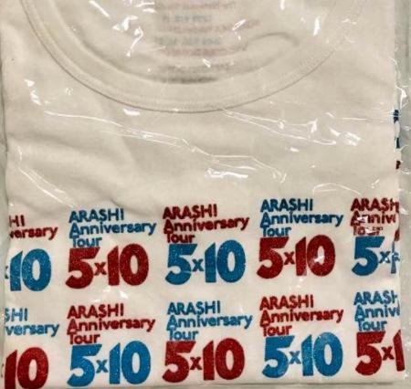 ARASHI 5×10Tシャツ コンサートグッズの画像