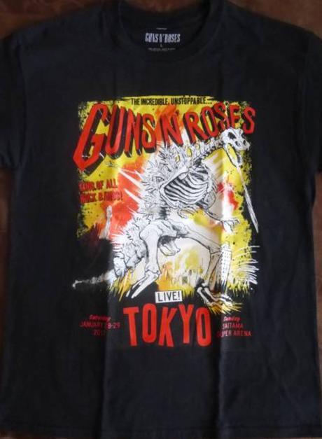 GUNS N' ROSESTシャツ Lサイズ 2017 ゴジラ ライブグッズの画像
