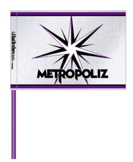 三代目 METROPOLIZツアーグッズ フラッグ 2本セット