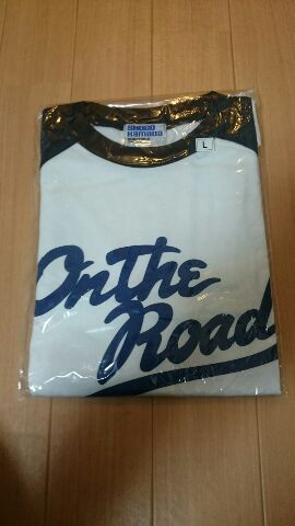 浜田省吾 ON THE ROAD2005 グランベースボールシャツ七分袖 ライブグッズの画像